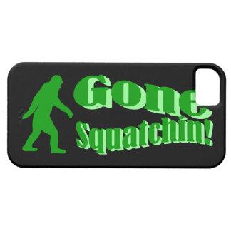 緑によって行くsquatchinのスローガンの文字 iPhone SE/5/5s ケース