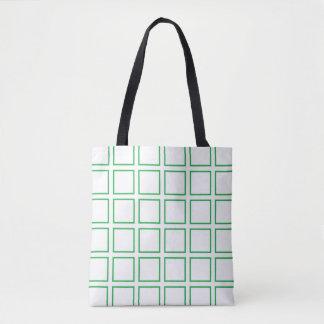 緑によって輪郭を描かれる正方形 トートバッグ