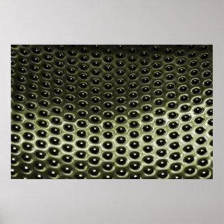 緑によって陽極酸化される金属のグリル ポスター