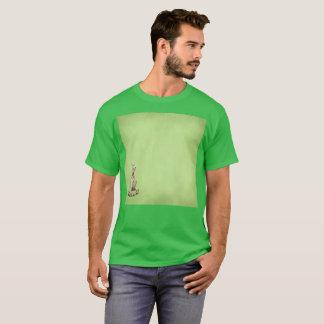 緑によって隠されるGatoの左翼の水彩画のまれなTシャツ Tシャツ