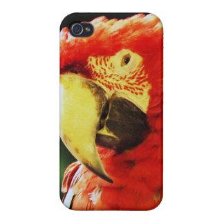 緑によって飛ぶコンゴウインコのオウムの鳥のクローズアップ iPhone 4/4S CASE