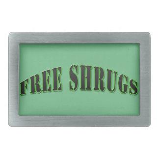 緑のおもしろいで自由な肩をすくめるしぐさのベルトの留め金 長方形ベルトバックル