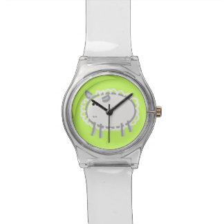 緑のおもしろいのヒツジ 腕時計