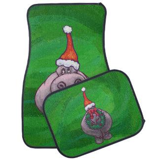 緑のお祝いのカバ カーマット