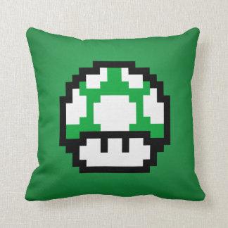 緑のきのこの枕 クッション