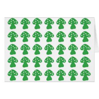 緑のきのこ カード