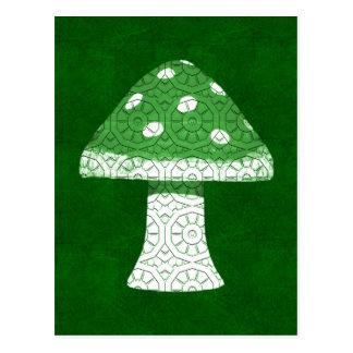 緑のきのこ ポストカード