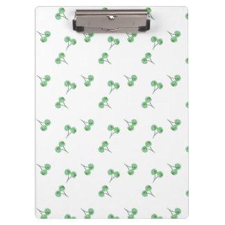 緑のさくらんぼパターン クリップボード