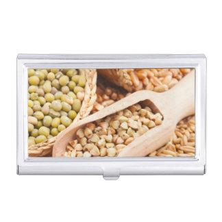 緑のそば粉、ムギ、オートムギおよびMung -穀物 名刺入れ