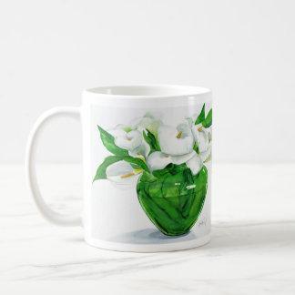 緑のつぼのマグのオランダカイウユリ コーヒーマグカップ