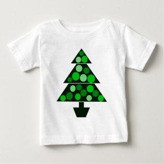 緑のつまらないもののクリスマスツリー-幼児ティー ベビーTシャツ