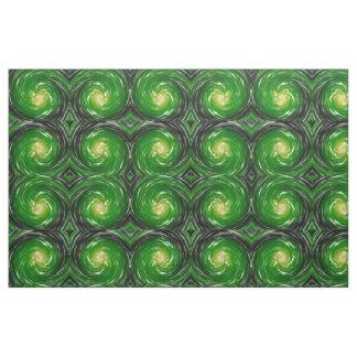 緑のねじれの抽象美術 ファブリック