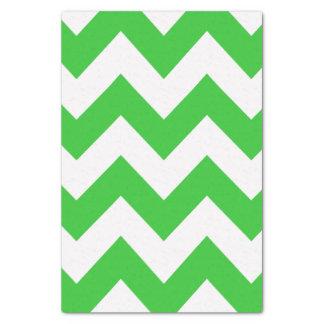 緑のはっきりしたでモダンなシェブロン 薄葉紙