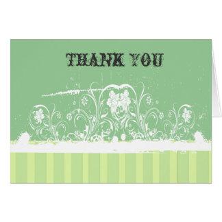 緑のぼろぼろのレースは感謝していしています カード