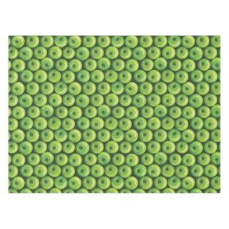 緑のりんごが付いているパターン テーブルクロス
