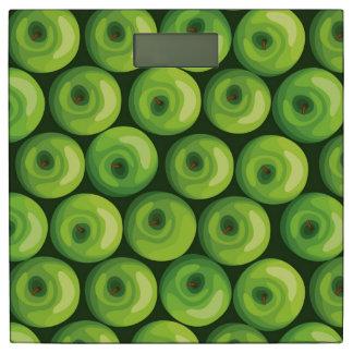 緑のりんごが付いているパターン 体重計