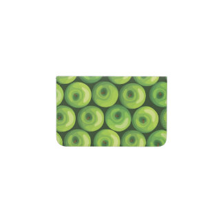 緑のりんごが付いているパターン 名刺入れ