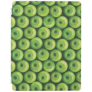 緑のりんごが付いているパターン iPadスマートカバー
