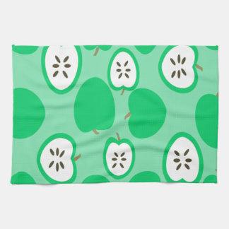 緑のりんご キッチンタオル