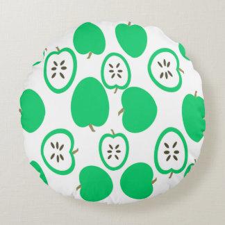 緑のりんご ラウンドクッション