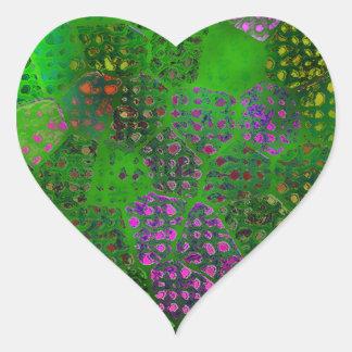 緑のろうけつ染め ハートシール
