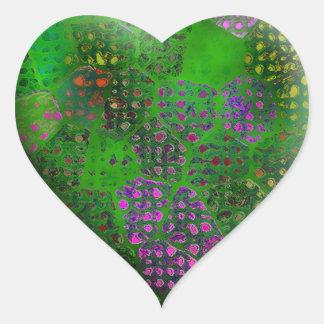 緑のろうけつ染め#2 ハートシール