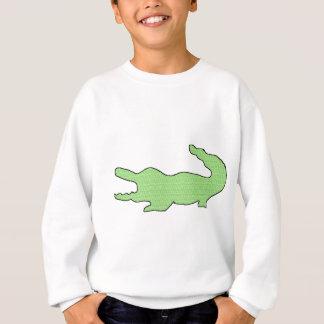 緑のわに スウェットシャツ