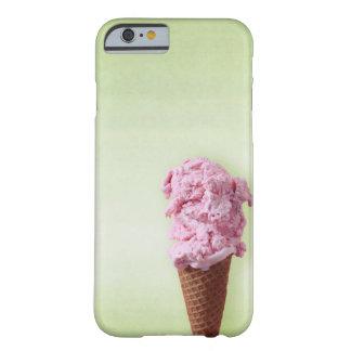 緑のアイスクリームのピンク-おもしろい- iPhone 6/6s Barely There iPhone 6 ケース