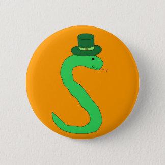 緑のアイルランドのヘビピン 缶バッジ