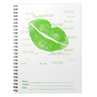 緑のアイルランドの唇-私に文字接吻して下さい ノートブック