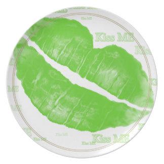 緑のアイルランドの唇-私に文字接吻して下さい プレート