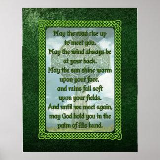緑のアイルランドの天恵 ポスター