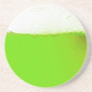 緑のアイルランドビール飲むコースター コースター