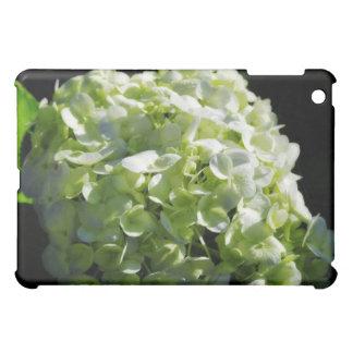緑のアジサイの花 iPad MINIケース