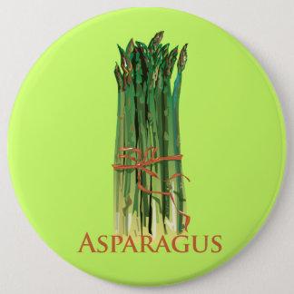 緑のアスパラガス 15.2CM 丸型バッジ