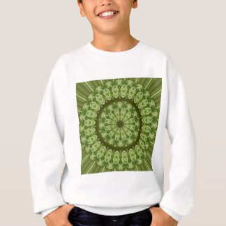 緑のアネモネの曼荼羅2 スウェットシャツ