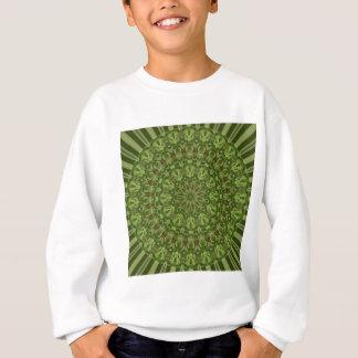 緑のアネモネの曼荼羅4 スウェットシャツ