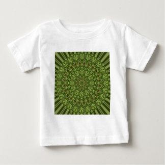 緑のアネモネの曼荼羅4 ベビーTシャツ