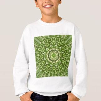 緑のアネモネの曼荼羅5 スウェットシャツ