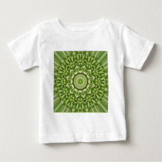 緑のアネモネの曼荼羅5 ベビーTシャツ