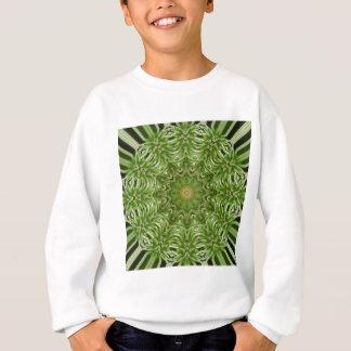 緑のアネモネの曼荼羅6 スウェットシャツ