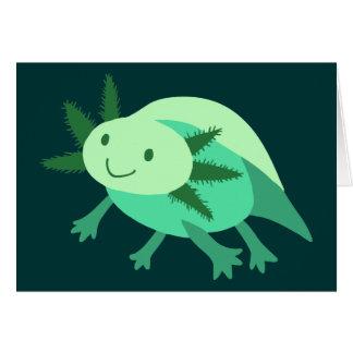 緑のアホロートル カード