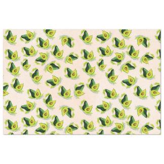 緑のアボカドの水彩画パターン 薄葉紙