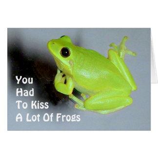 緑のアマガエルのイメージ カード