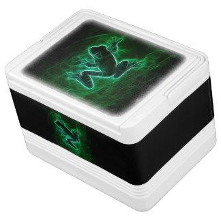 緑のアマガエルのシルエット IGLOOクーラーボックス
