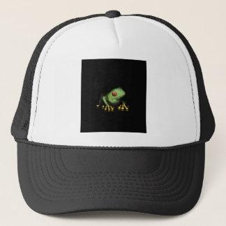 緑のアマガエルプロダクトはカスタマイズ キャップ