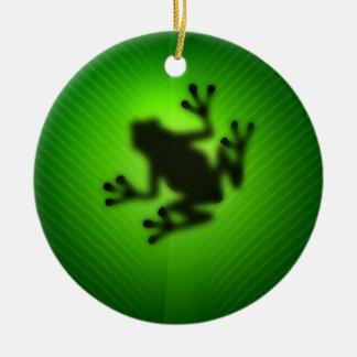 緑のアマガエル セラミックオーナメント