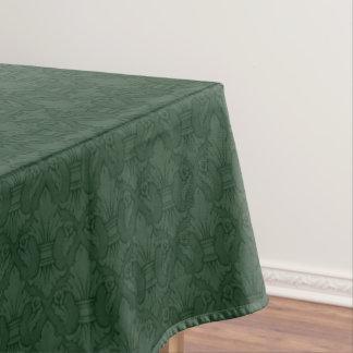 緑のアヤメパターンテーブルクロス テーブルクロス