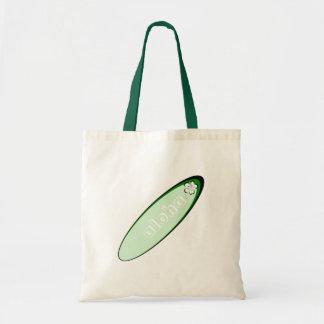 緑のアロハハイビスカスのデザイン トートバッグ