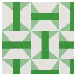 緑のアーカンソーの旅行者のパッチワークのデザイン ファブリック
